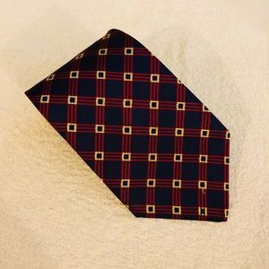 Brooks Brothers Navy w/ Red & Gold Check Tie